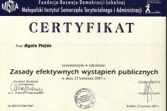 Certyfikat uczestnictwa - 15